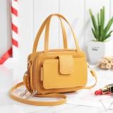 Brenice Women Square Card Holder Phone Bag Multi-layer Crossbody Bag