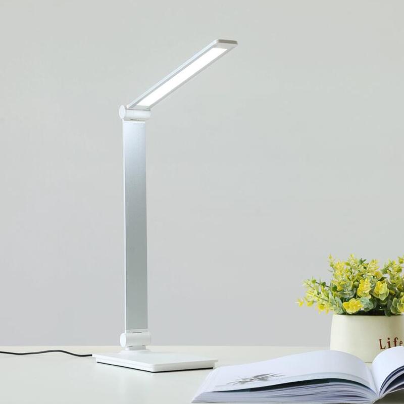6W Table Lamp Touch Switch 3 Modes EU Plug Lartern Folding Portable Light