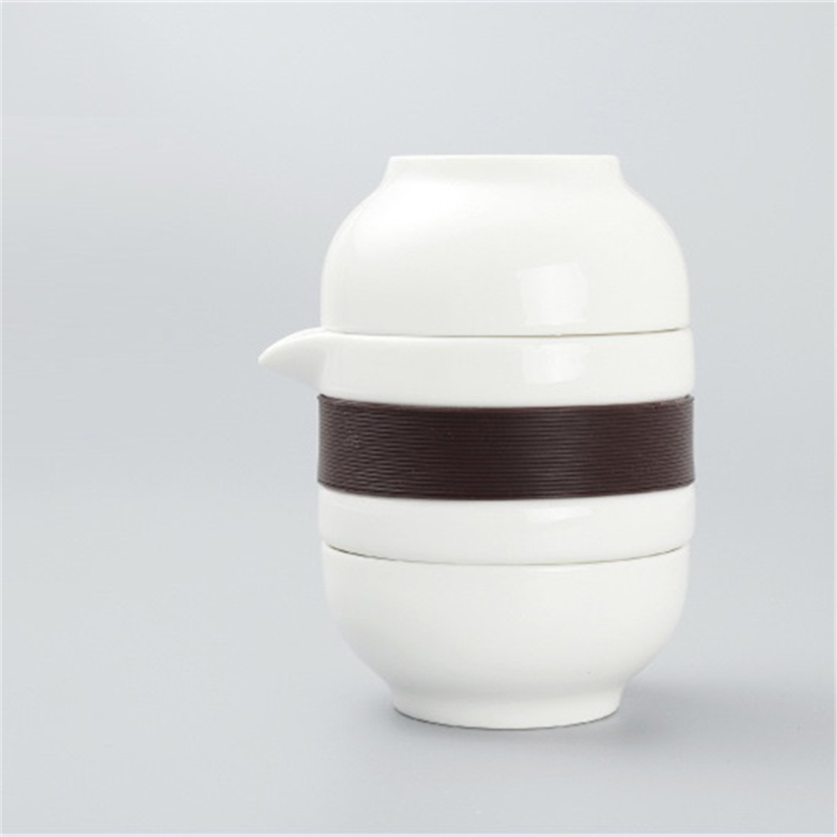 3PCS / Set 3 In 1 Tea Cup Ceramic Tea Set Portable Kung Fu Tea Pot With Bag Chinese Travel