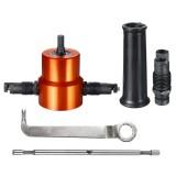 Double Headed Sheet Metal Cutting Nibbler Drill Attachment Metal Cutter Tool