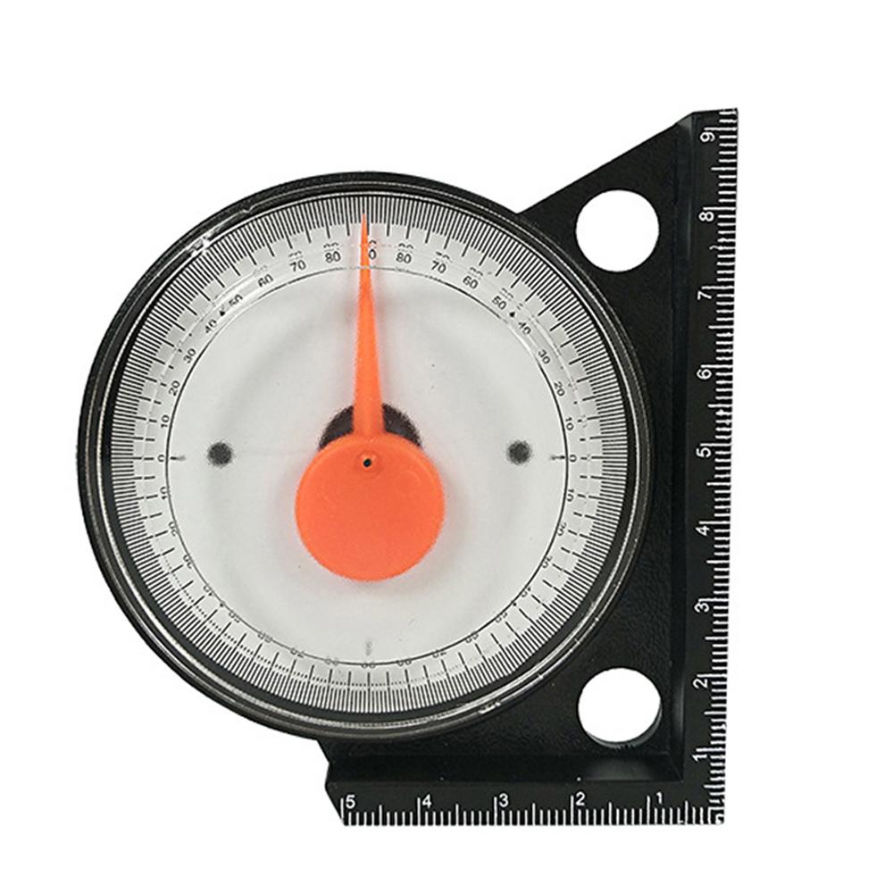 Slope Inclinometer Angle Finder Protractor Level Meter Clinometer Gauge 4x90°
