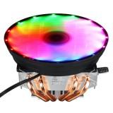 3 Pin 12V 12cm Horizontal CPU Cooler CPU Cooling Fan for Intel LGA 1150/1151/1155/1156/1366/775 AMD Heatsink