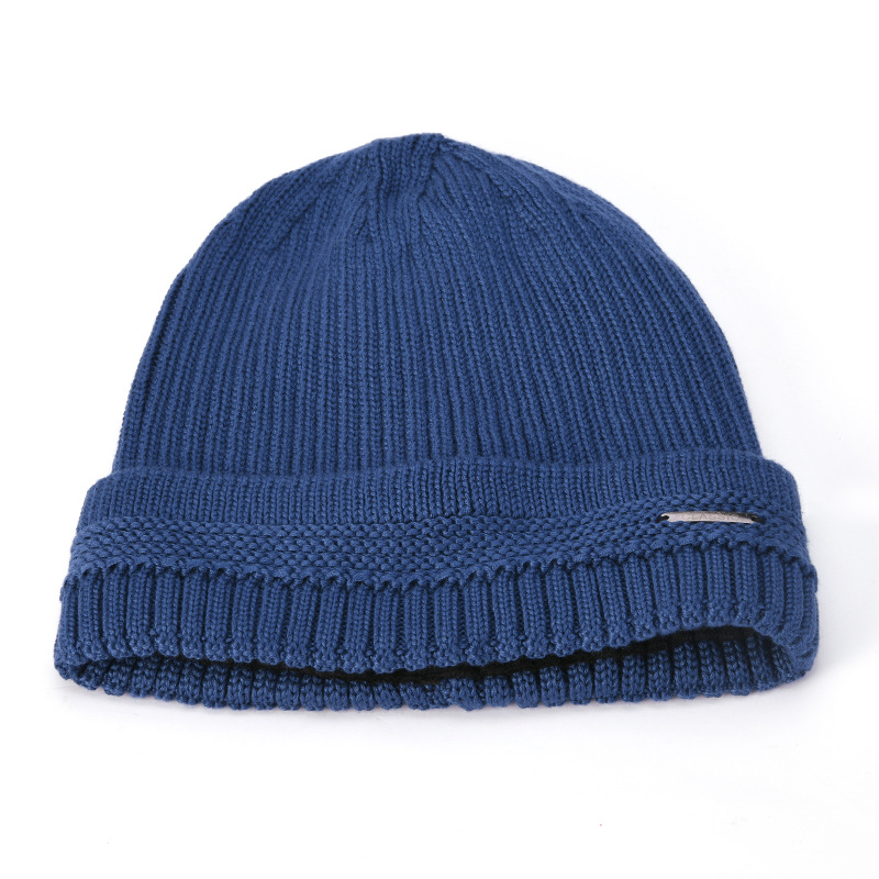Knit Hat Plus Velvet Warm Double-Layer Beanie Cap Men Woman Earmuffs Ski Skullcap