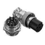 1Set GX16-8 Pin Male And Female Diameter 16mm Wire Panel Connector GX16 Circular Aviation Connector Socket Plug