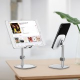Baseua Metal 35 Degree Up Down Adjustable Cable Clip Desktop Stand Lazy Holder for Mobile Phone Tablet