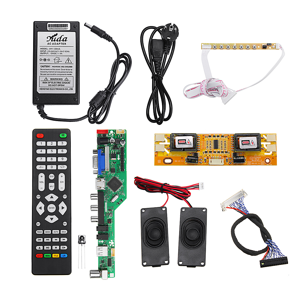 T RD8503 03 Universal LED TV Controller LCD Driver Board Complete Kit 2CH  8bit 40Pins
