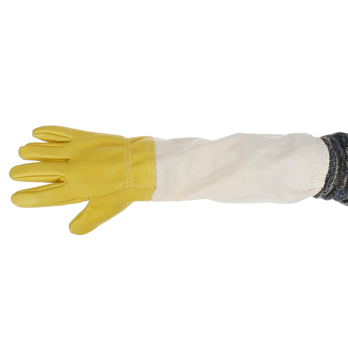 Extra Long Beekeeping Bee Work Gloves Real Goats Leather Heavy Duty Ventilated