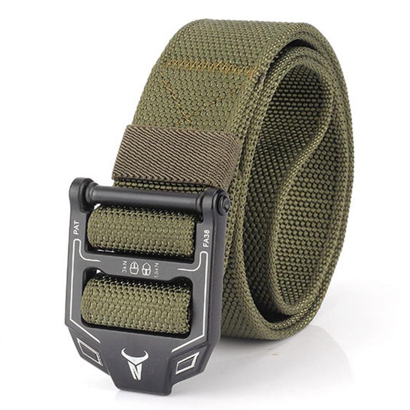 125CM Men Military Belt Tactical Hunting Outdoor Waistband Nylon Training Belt