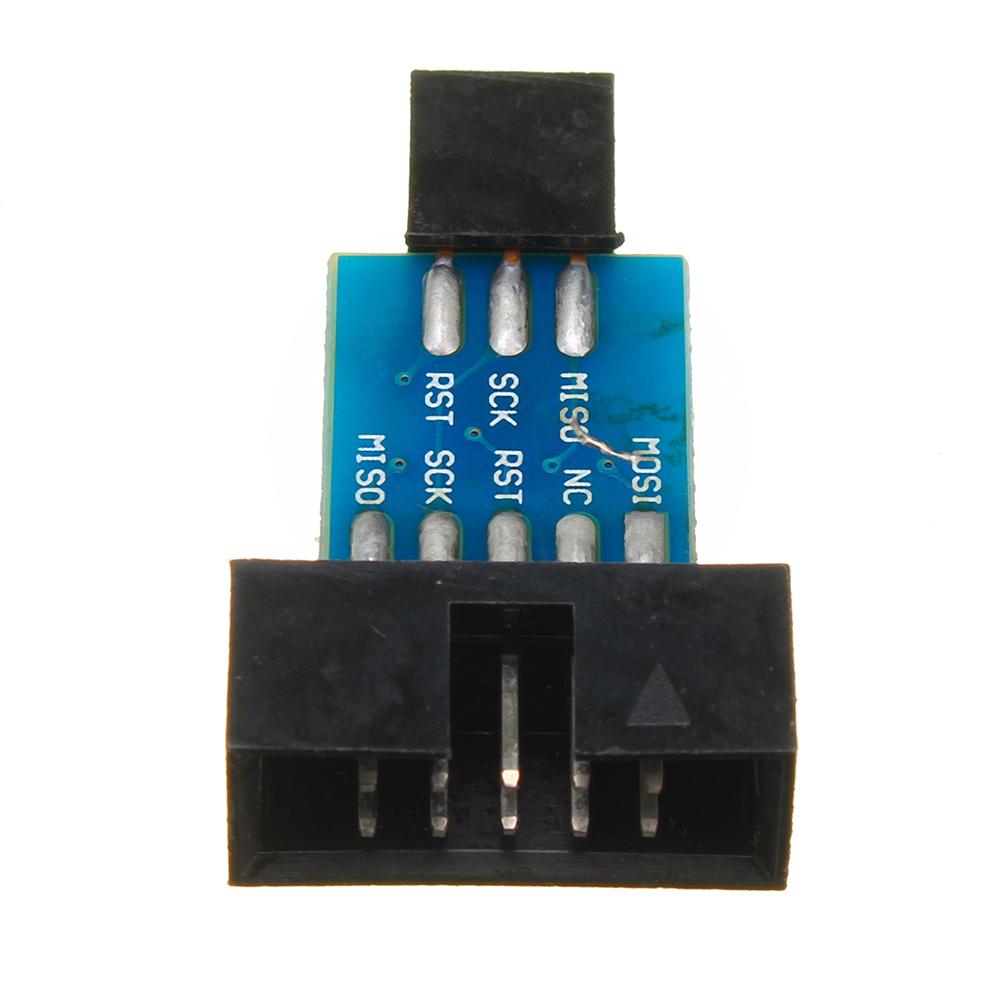 USBASP STK500 ISP Adapter 10 Pin auf 6 Pin AVR Konverter Für Arduino