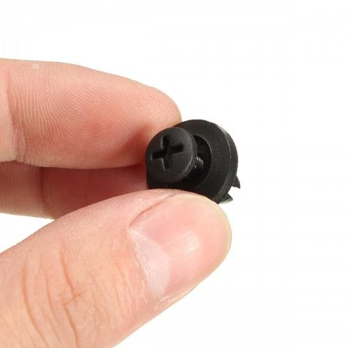 50Pcs Car Bumper Fender 6mm Hole Black Plastic Rivets Car Fastener Clip For Toyota
