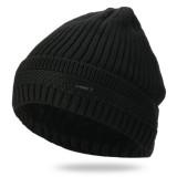 Knit Hat Plus Velvet Warm Double-Layer Beanie Cap Men Woman Earmuffs Ski Skullcap