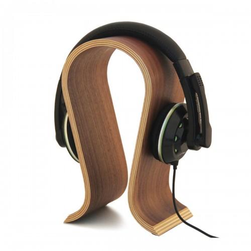 Omega Shape Wood Headphone Holder Earphone Stand Hanger Bracket Desk Display Shelf Rack