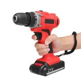 300W 21V LED Cordless Electric Drill Screwdriver 1500mAh Rechargeable Li-Ion Battery Repair Tools