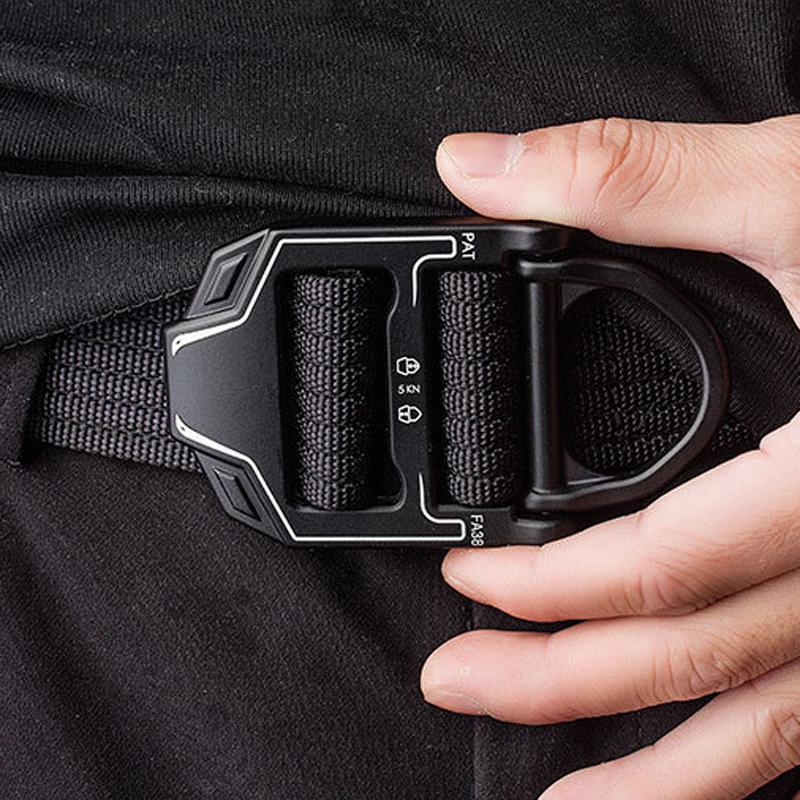 125cm AWMN R001 3.8cm Nylon Adjustable Heavy Duty Waist Strap Quick Release Buckle Military Tactical Belt