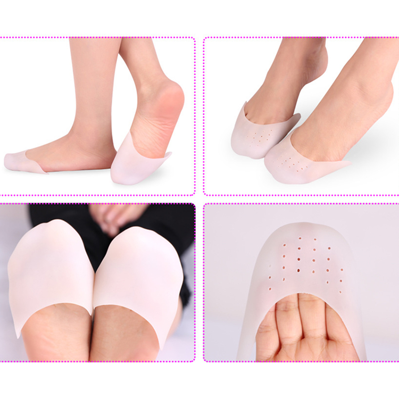 Women Silicone Ballet Toe Protection Sleeve Toe Set Thick Super Pointe Shoe Rubber Covers