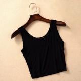 Women Yoga Sport Summer Style U Croptops Fitness Gym Tank Tops Strap Vest