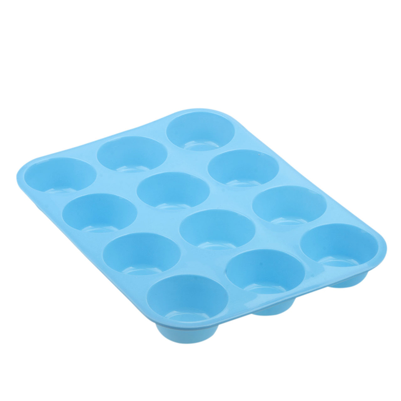Silicone Non Stick 12 Cup Maker Tray Muffin Pan Baking Jelly Mold Mould Tool