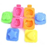 6pcs Set Creative Boiled Egg Sushi Rice Mold Bento Maker Sandwich Decorating Mould