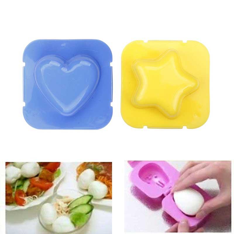 6pcs Set Creative Boiled Egg Sushi Rice Mold Bento Maker Sandwich Decorating Mould
