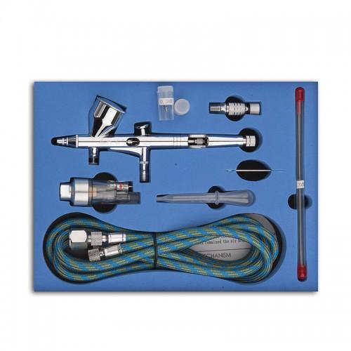 Pro Dual Action 3 Airbrush Air Compressor Kit Craft Cake Paint Art Spray Gun