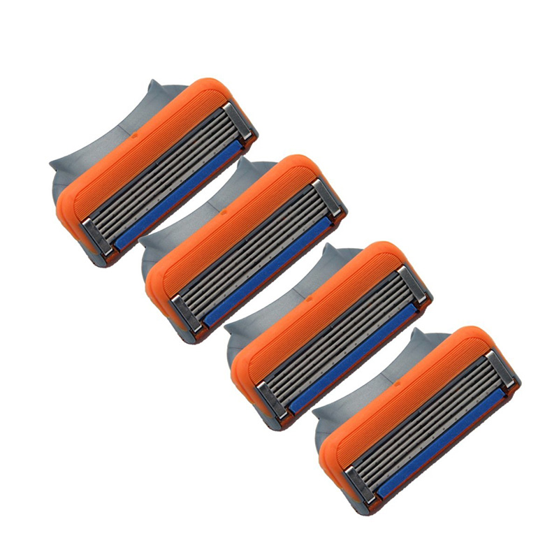 4pcs/lot 5 layer Blades Men's Face shaving Razor Blades shaver blades For Men
