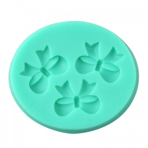 3D Bow Fondant Chocolate Mould Candy Cake Soap Mold Cake Decorating Baking Tool