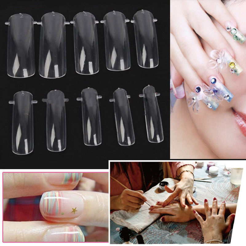 100 Pcs Dual Nail Art System Form UV Gel Acrylic False Tips Salon Decorations Tools Set New with Box