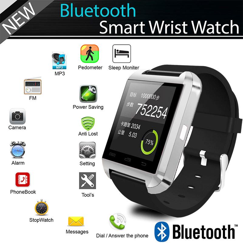 baa1bbc45 Bluetooth Smart Wrist Watch Phone Mate For IOS Android iPhone Samsung HTC  LG. 1476688288_6344.jpg; 1476688296_6632.jpg ...
