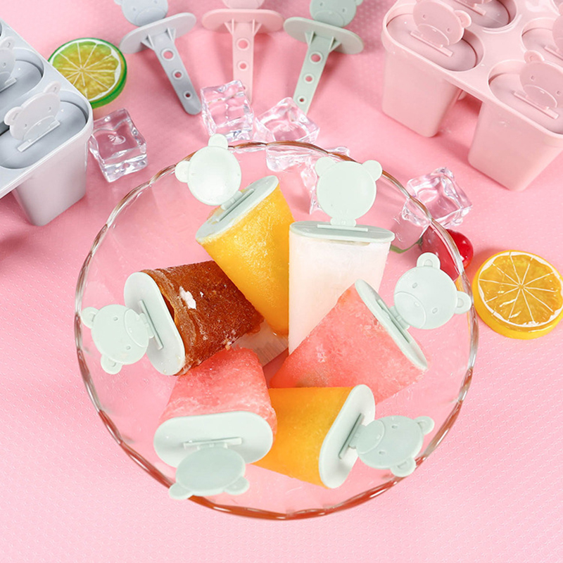 6 Cells DIY Ice Mold Frozen Ice Cream Mold Popsicle Maker Lolly Mould