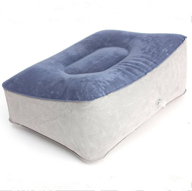 Inflatable Travel Foot Rest Footrest Pillow Air Cushion Hiking Camping Rest Pillow
