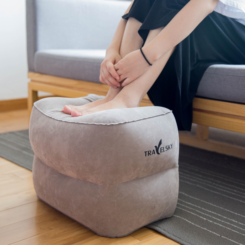 Three Layers Inflatable Travel Footrest Leg Rest Travel Pillow Air Cushion Rest Pillow