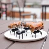 12pcs Cute Ants Design Food Fruit Picks Forks Lunch Box Accessory Decor Tool