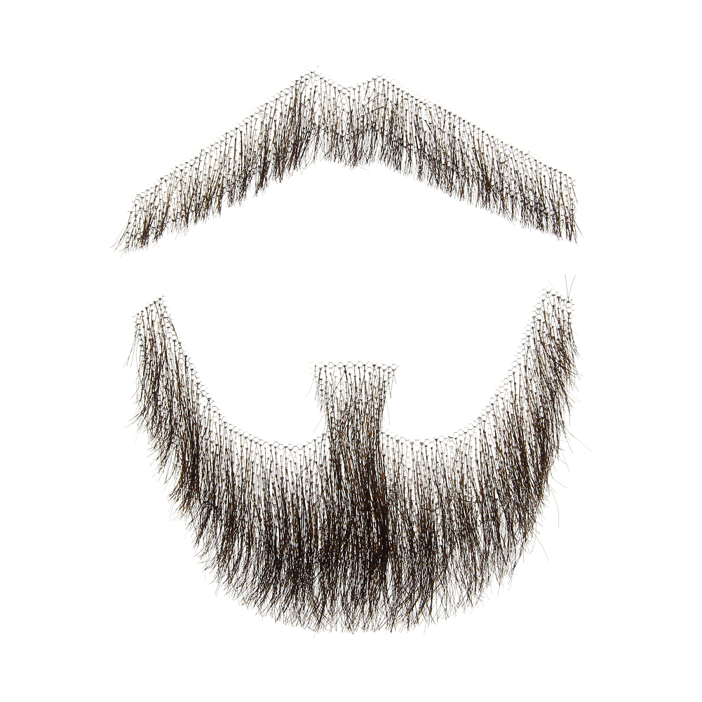Brown Fake Man Mustache Word Simulation Of 100% Human Hair Makeup Body Care Facial Hair Wig Cosplay