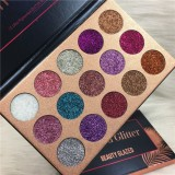 Fashion Women Beauty New 15 Colors Diamond Glitter Rainbow Eyeshadow Makeup Cosmetic Pressed Palette Set Party Gift