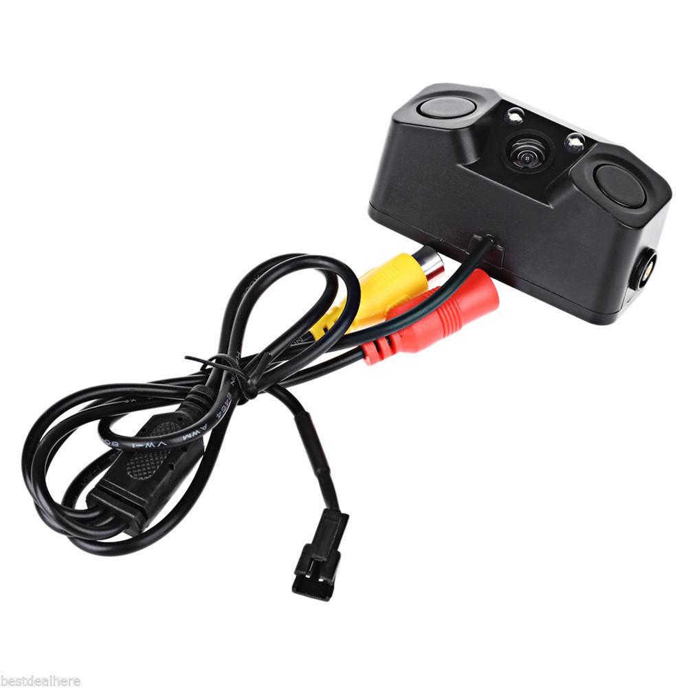 Car Rear View Camera with Radar Parking Sensor 170 Degree Viewing Angle HD Waterproof Rearview Camera