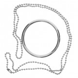 1PC Creative Metal Ring and Chain Magic Trick Props Knot Ring Show Toys