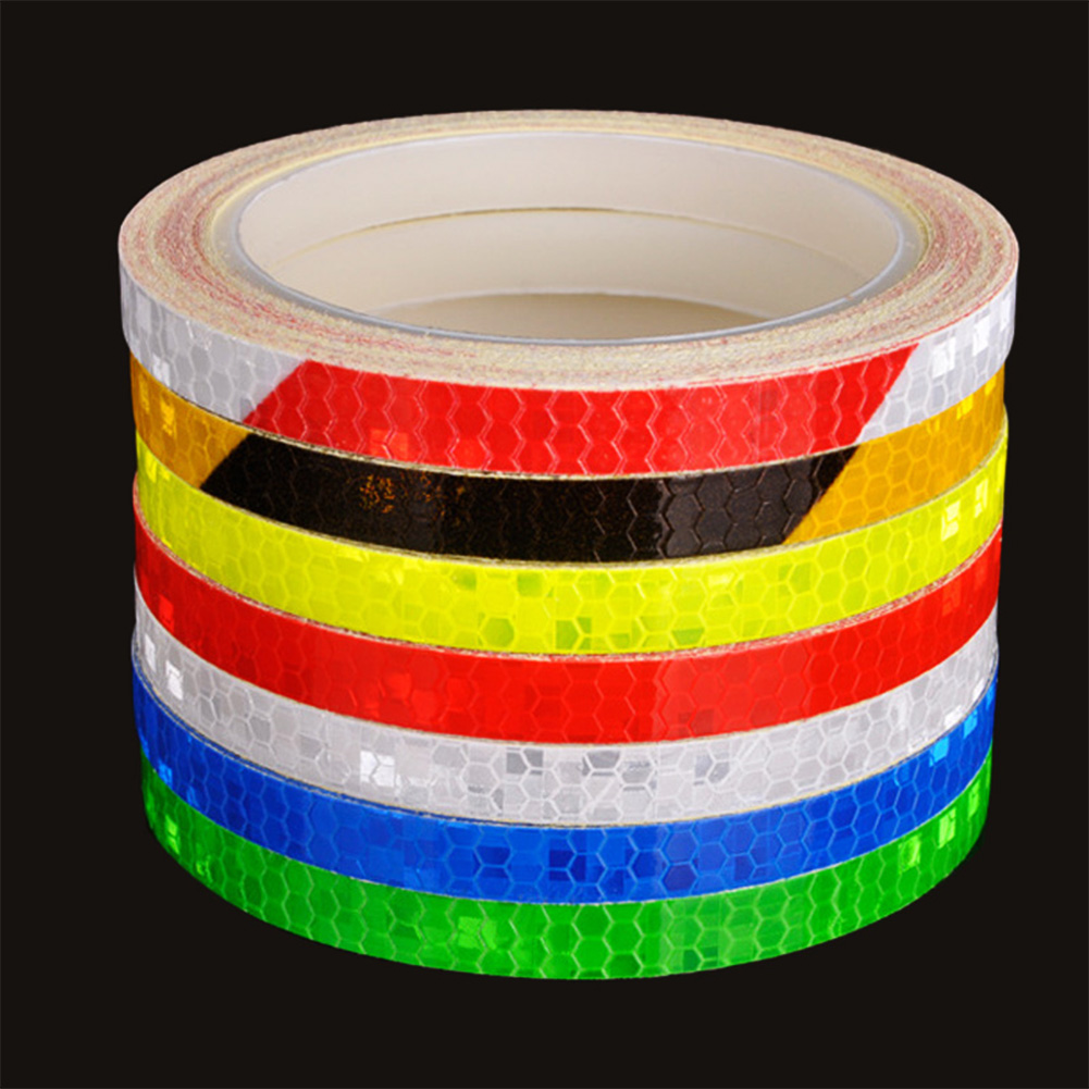 Bicycle Reflector Reflective Sticker Safety Warning Cycling Decal Tapes