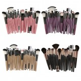 MAANGE 25pcs Foundation Blending Blush Eye Shadow Brow Lash Fan Lip Face kabuki Makeup Brushes Beauty Tool Set Kit