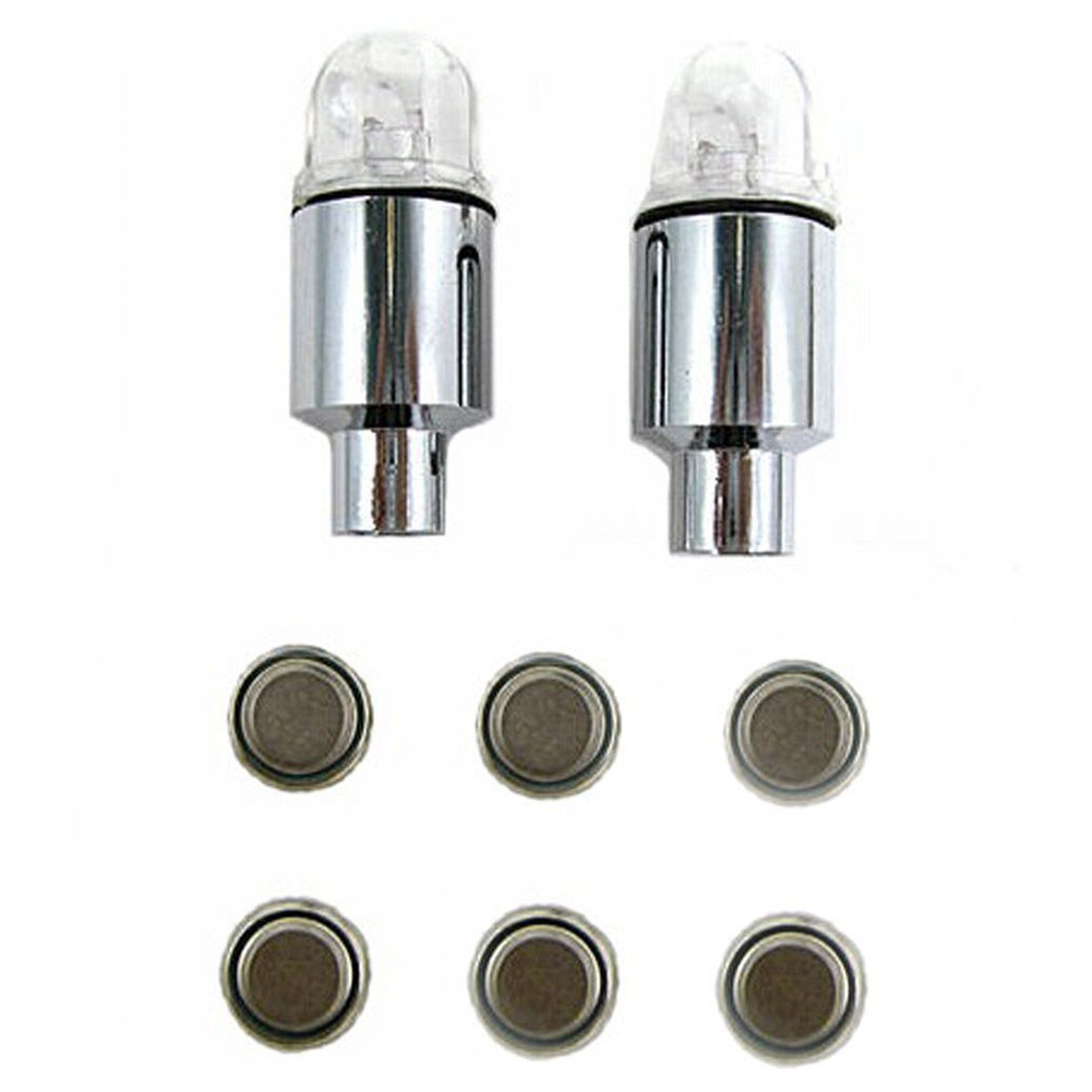 8pcs Blue LED Auto Car Wheel Tyre Tire Shock Sense Valve Stem Cap Light Lamp Bulb Hot