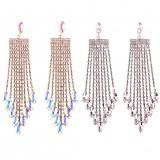 Trendy Tassel Dangle Earrings Women Fashion Design Bohemian Wedding Jewelry Drop Statement Long Earrings Jewelry
