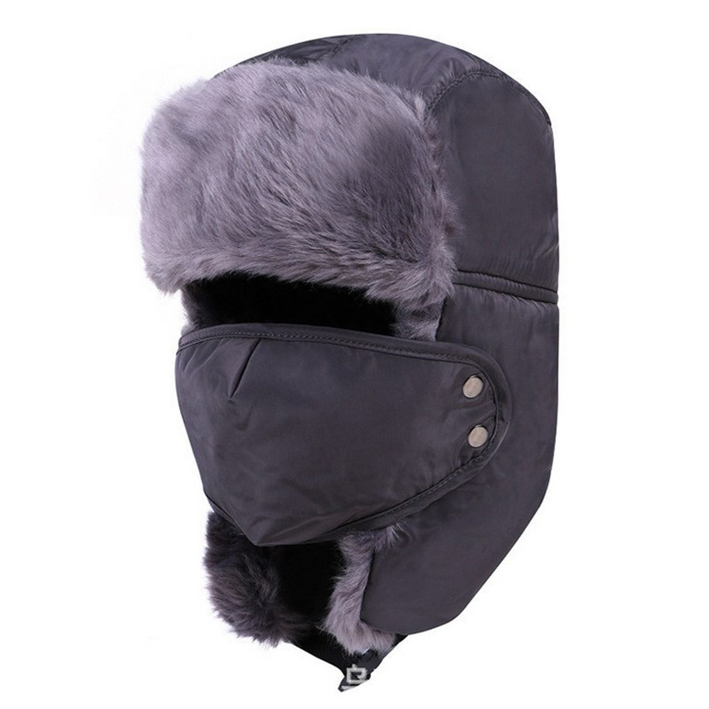 Winter Fashion Fur Hats Outdoor Windproof Thick Warm Snow -1819