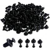 100pcs Car Auto Plastic Rivets 6mm Hole Dia Fastener Fender Bumper Push Pin Clips