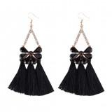 Acrylic Fringed Bijoux Tassel Long Dangle Earrings Fashion Statement Jewelry Drop Earrings For Women