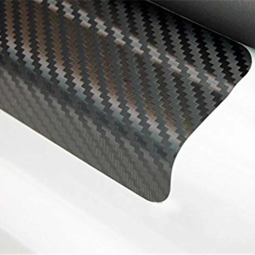 Car Door Pedal Rear Bumper Trunk Tail Lip 3D Carbon Fiber Protect Sticker Covers