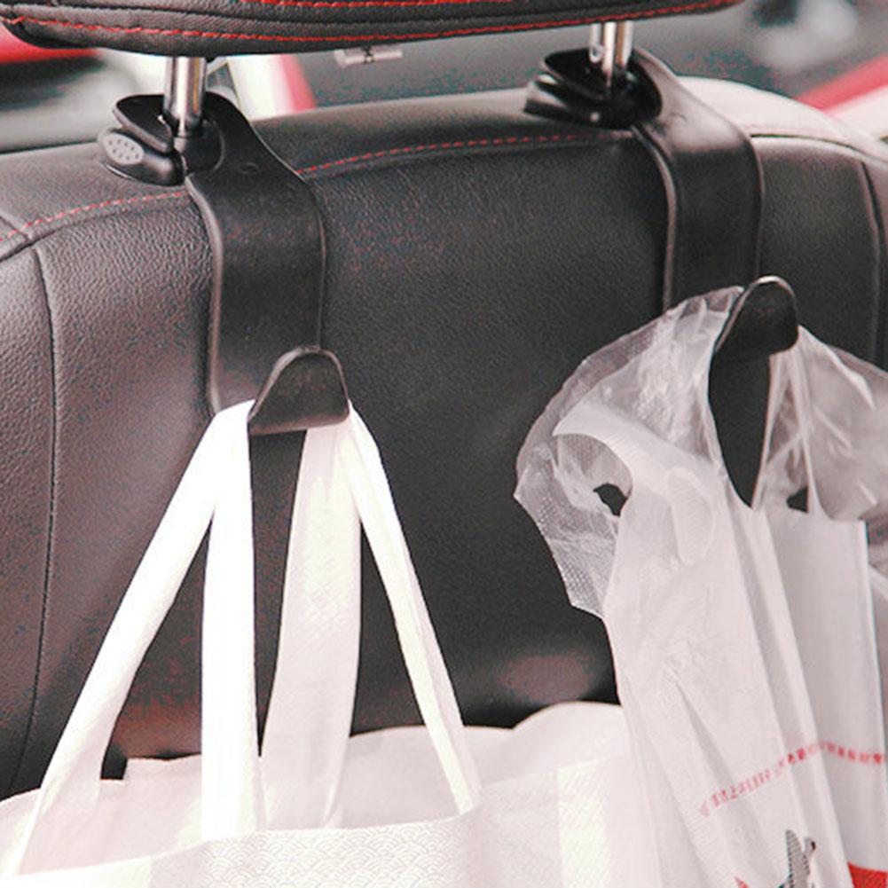 Convenient Universal Car Back Seat Headrest Hanger Storage Hooks For Groceries Bag Handbag