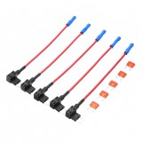 5PCS Car Auto 10A Fuse Tap Adapter Plug Distributor Mini ATM Circuit Holder