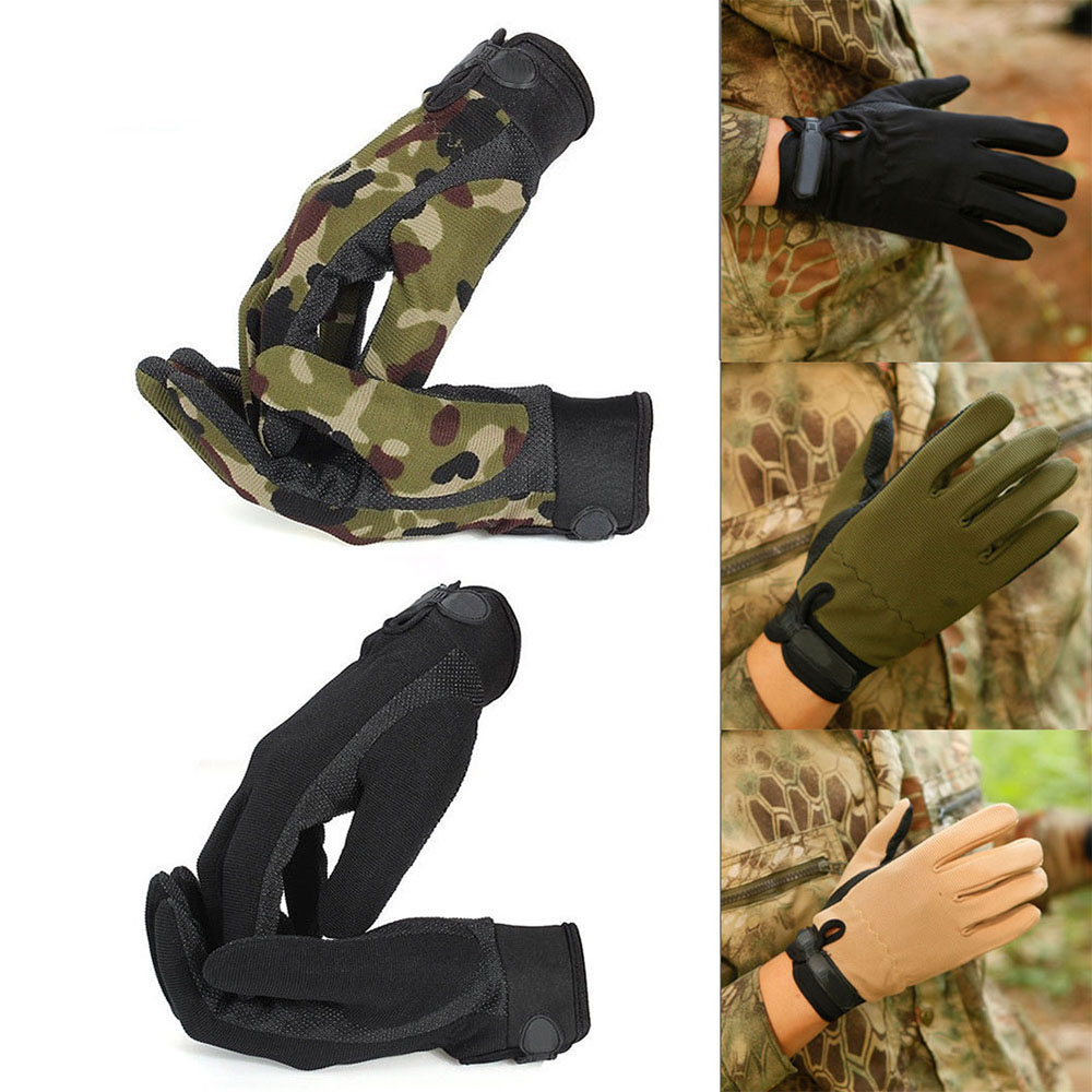 Outdoor Sports Camouflage Men's Military Tactical Gloves Riding Fashion Hunting Full Finger Gloves