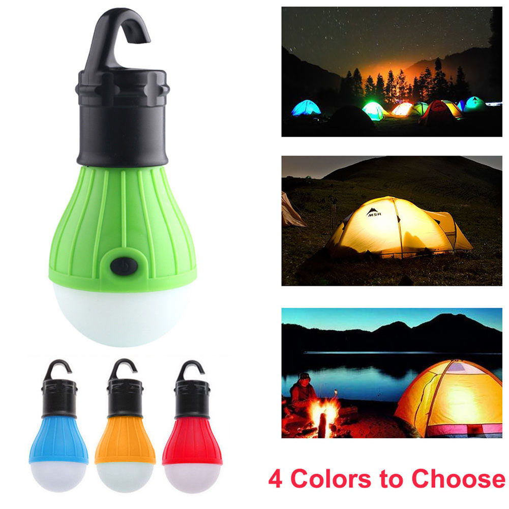 Outdoor LED Camping Hanging Light Bulb Fishing Lantern Emergency Waterproof Tent Lamp