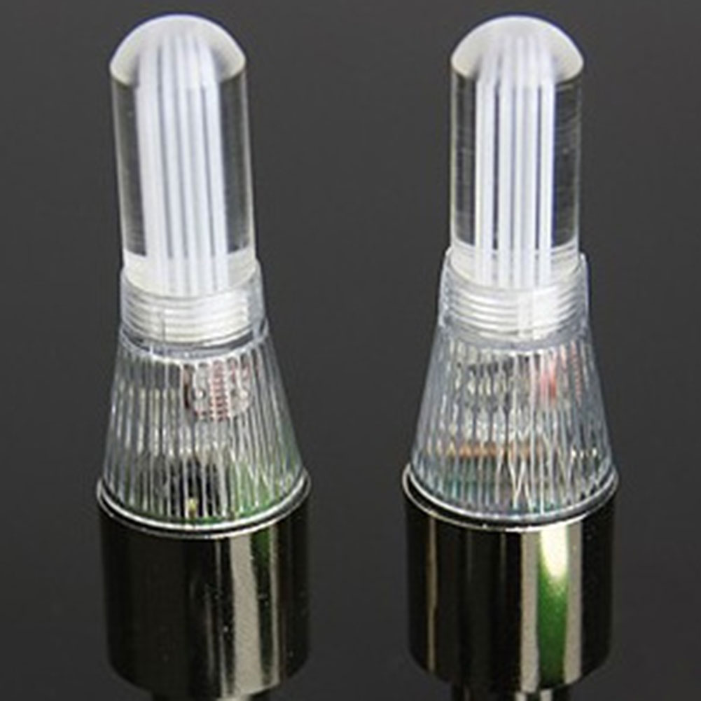 1 Piece Hot LED Neon Flash Bicycle Car Motor Wheel Tyre Tire Valve Cap Lamp Light