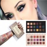 HANDAIYAN 18 Colors Women Beauty Matte Somkey Earth Color Makeup Waterproof Glitter Eyeshadow Palette Cosmetics Set